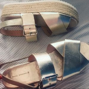 Zara platform espadrilles sandal